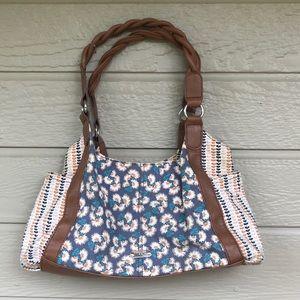 Relic Leather & Canvas Shoulder Bag Purse